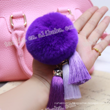 2016 New Design for Key Handbag and Home Decoration of Mink Cashmere Decorative Leather Tassel